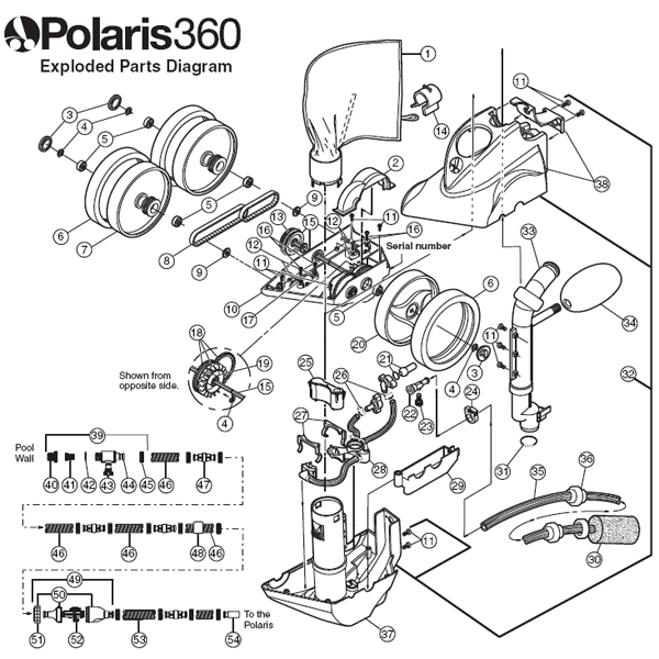 Polaris Cleaner Parts Diagram Electrical Work Wiring Diagram