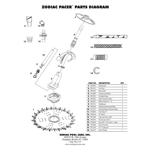 Baracuda Pacer Automatic Pool Cleaner Parts Polaris Hayward Pool
